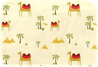 EGGDIOQ Doormats Desert Coconut Camel Custom Print Bathroom Mat Waterproof Fabric Kitchen Entrance Rug, 23.6 x 15.7in