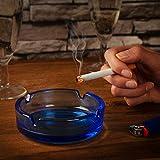 com-four® 3X Aschenbecher aus Glas - klarer Glasaschenbecher für Zigaretten - Ascher für Privat und Gastronomie - aus 5 mm dickem, Buntem Glas (03 Stück - bunt) - 2