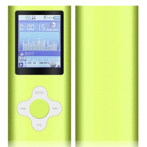 G.G.Martinsen Versatile MP3/MP4 Player with a Micro SD Card, Support Photo Viewer, Mini USB Port 1.8 LCD, Digital MP3 Player, MP4 Player, Video/Media/Music Player (greenwhite)