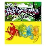 Araña Stretchies Extremo de Deluxebase. Paquete de 4 pequeños Animales elásticos. Perfeccione para los niños y los Grandes Juguetes del Partido