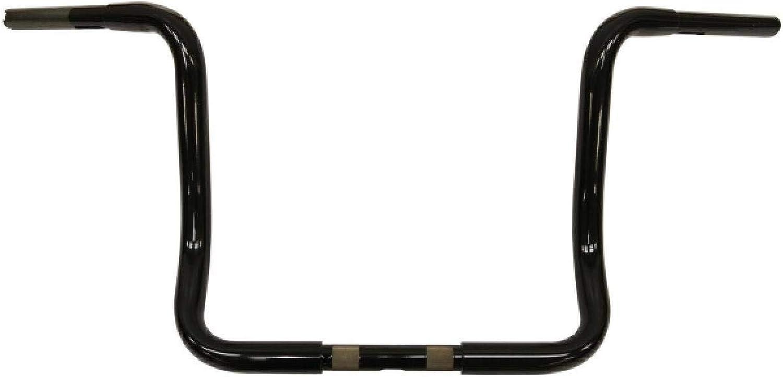 LA Choppers Ape Hanger 1 1 4in. Handelbar12in. RiseGloss Black, Handle Bar Size  1 1 4in., color  Black LA-7321-12B
