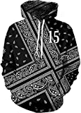 SWAG Hoodies Hip Hip Bandana Black Sweatshirt Long Sleeve Sportswear