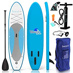 3. SereneLife (6'' Thick) - Best Inflatable Stand Up Paddle Board For Ocean