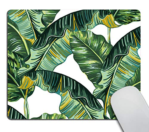 Smooffly Palm Leaves Non-Slip Rubber Comfortable Customized Computer Mouse Pad,Tropical Palm Leaves Jungle Leaf Personality Desings Gaming Mouse Pad