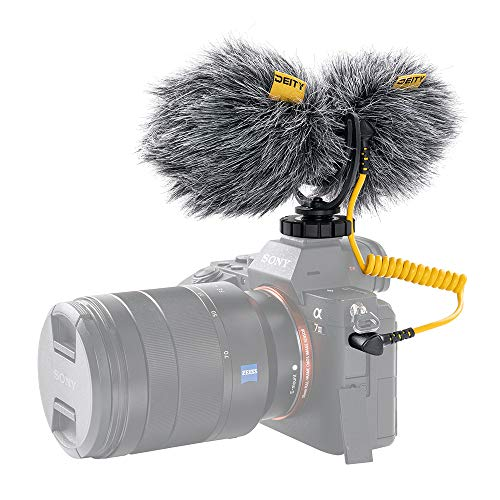 Deity Microphones V-Mic D4 Duo Dual-Capsule Cardioid Shotgun Microphone with Rycote@ Lyre Shockmount for Smartphone, Cameras and Ideal for Vlogger Videographers Interviews Recording