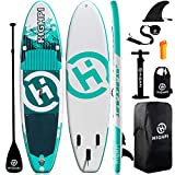Highpi Inflatable Stand Up Paddle Board, 10'6''x32''x6'' SUP for Youth & Adult, Stable, Versatile, Durable and Lightweight, Suitable for Yoga&Fishing, Accessories Included