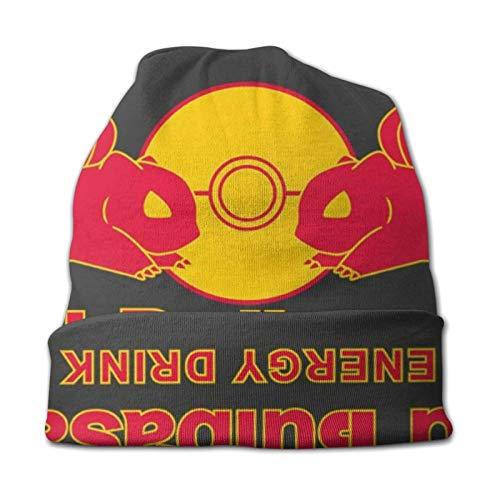 xuexiao Strickmütze für Männer & Frauen - Winter-Rodelhüte für kaltes Wetter Monster von The Pocket Red Bulbasaur Energy Drink Beanie Cap
