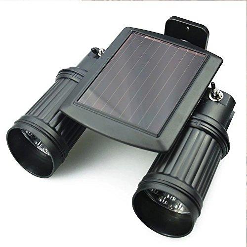 Solar bewegungs-Sensor-Lampe JLTPH 14 LEDs Doppel Solarstrahler mit Bewegungsmelder PIR Sensor Wandleuchte
