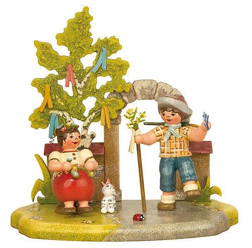 Kleine Figuren & Miniaturen Jahreszeit - Frühling - 13x12cm - Hubrig Volkskunst