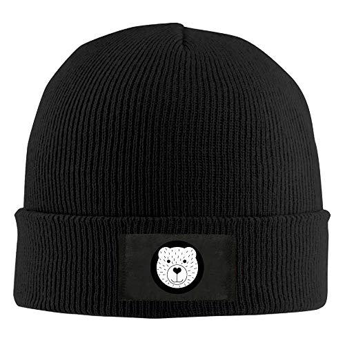 Voxpkrs Erwachsene betupfen Katze lustige Katze elastische gestrickte Beanie Mütze Winter im Freien warme Schädel Hüte V
