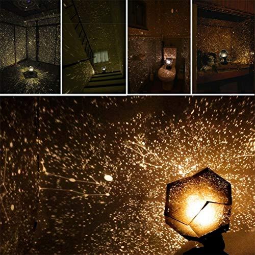 60.000 Sterne Original Home Planetarium, Caronan Star Lampe Nacht Romantische Planetarium Star Celestial Projektor Nachthimmel Lampe für Room Home Decor (Gelbes Licht)