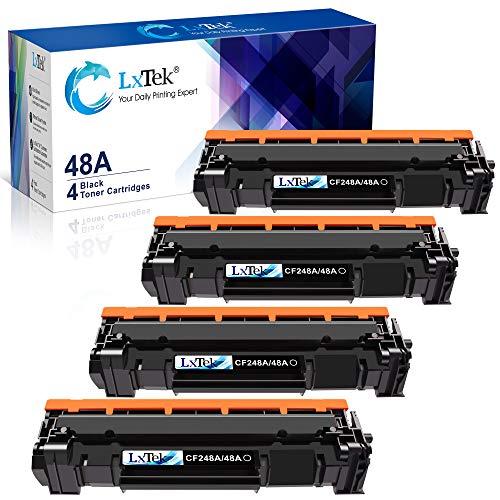 LxTek Compatible Toner Cartridge Replacement for HP 48A CF248A to use with Laserjet Pro M15w M29w M16w M28w M15a M29a M16a M28a Printer, 4 Black, High Yield(with Chip)