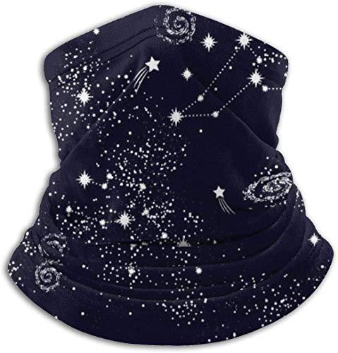 July flower Star Universe Background Illustration Ski Mask Cold Weather Face Mask Neck Warmer Fleece Hood Winter Hats
