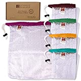 Naturally Sensible Reusable Produce Bags   Sturdy Mesh Grocery Tote (5...