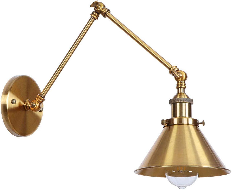 AmkoyRetro Industrial Swing Arm Wandleuchte Vintage Verstellbare Wandlampe Einstellbar Einziehbare Flexible LED E27 Wandbeleuchtung