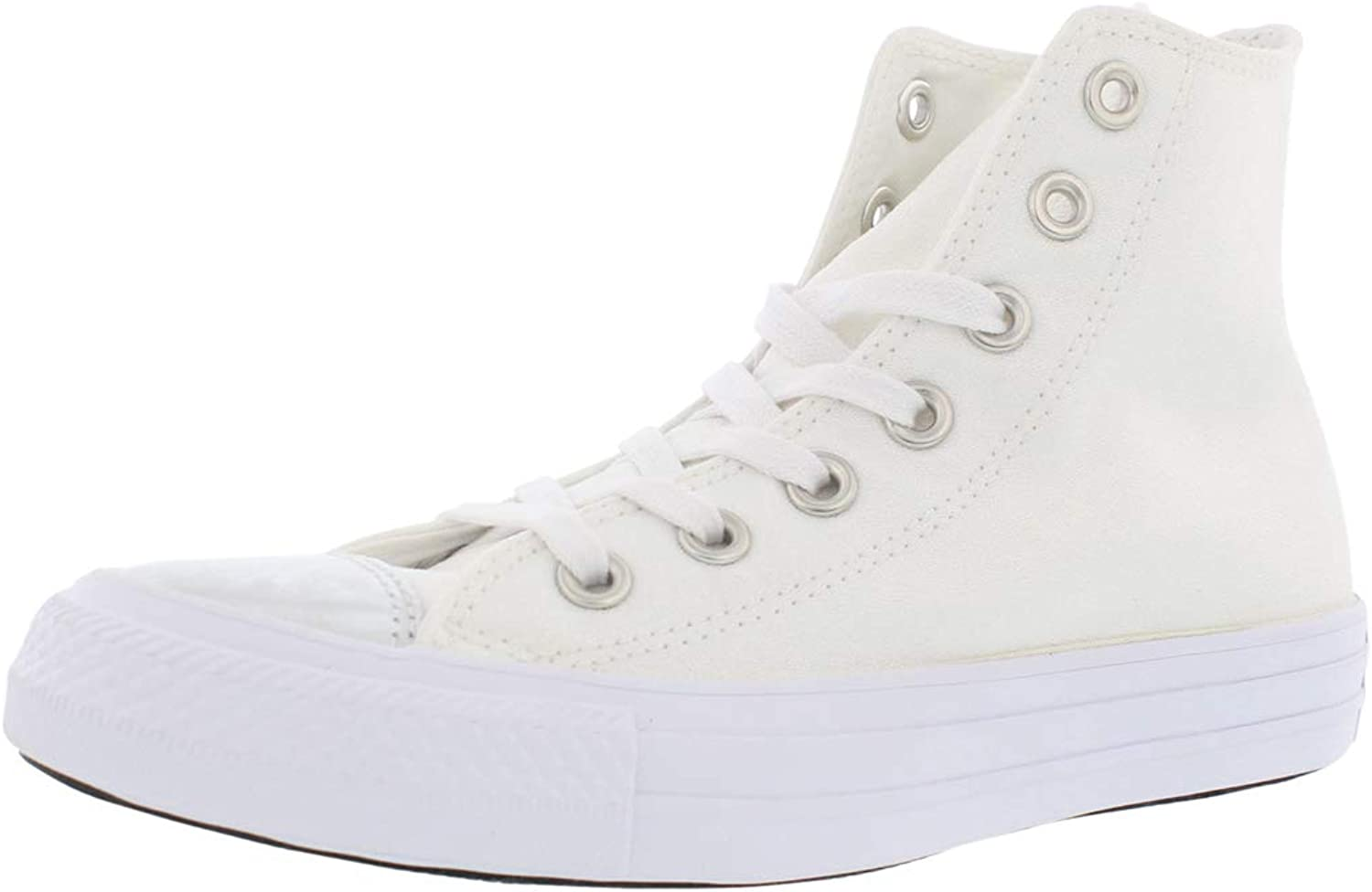 Converse Chuck Taylor All Star Brush-Off Leather Toecap Hi White Pure Silver White Women's shoes