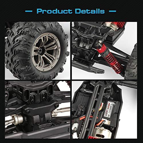 RC Auto kaufen Monstertruck Bild 4: Hosim High Speed 36 km/h 4WD 2,4 Ghz Ferngesteuerte LKW 9135, 1:16 Skala Radio Conrtolled Offroad RC Auto Elektronische Monster Truck R/C RTR Hobby Cross-Country Auto Buggy (ROT)*