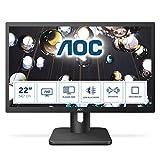 AOC Essential-line 22E1D pantalla para PC 54,6 cm (21.5') Full HD LED Plana Mate Negro - Monitor (54,6 cm (21.5'), 1920 x 1080 Pixeles, Full HD, LED, 2 ms, Negro)