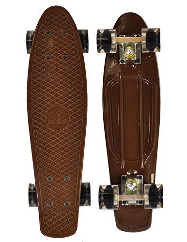 Ridge Skateboard Mini Cruiser Board Braun mit 12 Rollenvarianten komplett 55 cm, 0786471337585