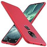 iBetter für Nokia 7.2 Hülle, für Nokia 6.2 Hülle, Ultra Thin Tasche Cover Silikon Handyhülle Stoßfest Hülle Schutzhülle Shock Absorption Backcover Hüllen passt für Nokia 7.2 Smartphone (Rot)