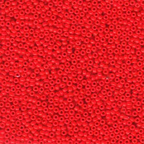 Red Opaque Miyuki 11/0 rocailles glass seed beads 24 grams