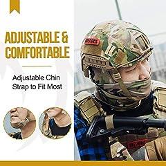 OneTigris Unisex's PJ Tactical airosft Helemt Helmet, Multicam, One Size #1