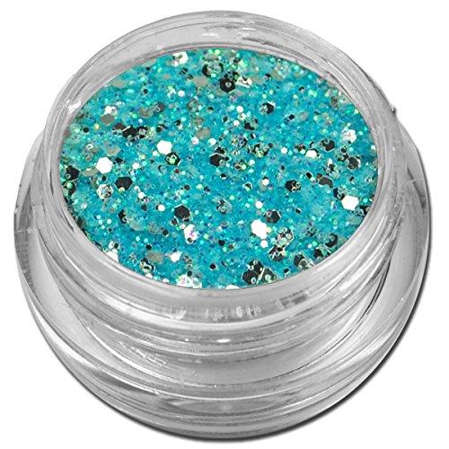 Glamour Mix Glitter Glitzer Silber Puder Hellblau Nailart