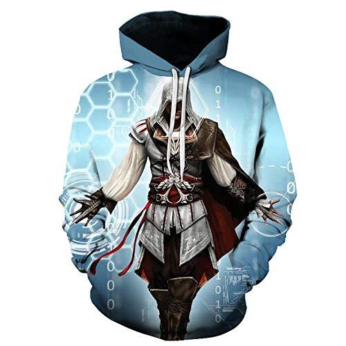 3D Assassin'S Creed Capucha Camisa de Entrenamiento Unisexo Manga Larga Camisas Top Transpirable Suéter-A_6XL