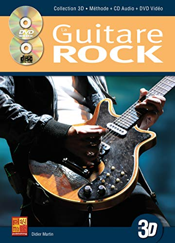 Tauzin Bruno Guitare Rock En 3D Guitar Book/Cd/Dvd French