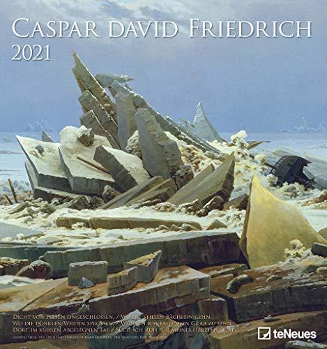 Caspar David Friedrich 2021 - Kunst-Kalender - Wand-Kalender - 45x48