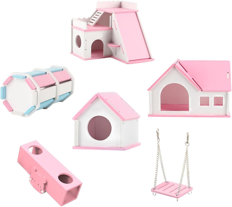 OMEM Hamster House Small Animal Hideout, Pet Mini Hut,Hamster Cabin,Hamster Cages,Portable Hamster Room, Pet Wooden Toys,Pet Hamster Toys