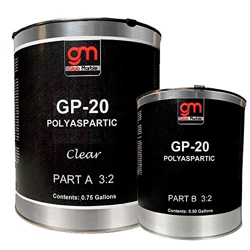 1.50 Gal. Polyaspartic Sealer GP-20 Floor Top Coat. High-Gloss, Fast Set, Protective, Polyaspartic Concrete Coating