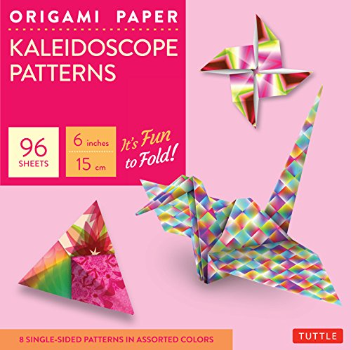 "Origami Paper - Kaleidoscope Patterns - 6"" - 96 Sheets: Tuttle Origami Paper: High-Quality Origami Sheets Printed with 8 Different Patterns: Instructions for 7 Projects Included"