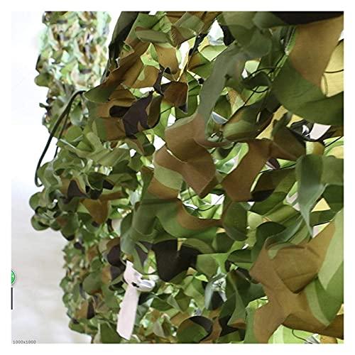 JUNWEN 2 × Camuflaje Netting Sun Network Toldings Oxford Shade Plazo Camping Tiendas de campaña, para niño Den Building Garden Balcon Balcón Sunshade Photography Photography Hunt Disparo (Tamaño: 10 *