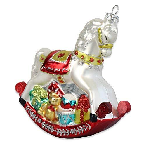 Gisela Graham - Cavallo a dondolo, decorazione pendente classica per albero di Natale in stile vintage
