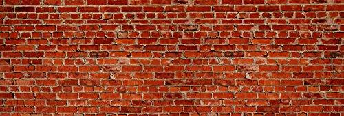wandmotiv24 Küchenrückwand Backstein rot Stadt 180 x 60cm (B x H) - Hartschaum 3mm Nischenrückwand Spritzschutz Fliesenspiegel-Ersatz M0240