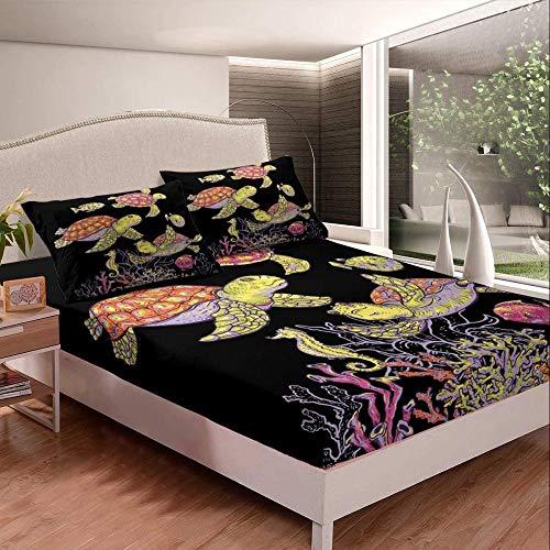 Tejido de edredón ajustable,,Sábanas de pereza Juego de sábanas con estampado de pereza lindo para niños, niñas, juego de cama con tema de animales, Sábana ajustable de microfibra suave de lujo-Mult