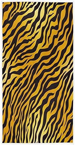 Tijgerprint Gestreepte Gepersonaliseerde Print Handdoek 27.5 `` x15.7  Gezicht Handdoek Zachte Absorberende Thuis Keuken Bad Gastendoek