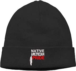 Native American Pride Unisex Winter Knitting Wool Warm Hat Daily Slouchy Hats Beanie Skull Cap