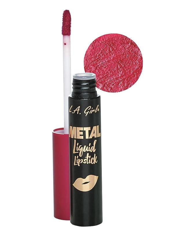 コロニー紫の大混乱L.A. GIRL Metal Liquid Lipstick - Treasure (並行輸入品)