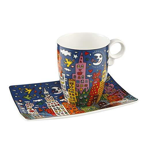 Goebel City Night - Künstlerbecher Pop Art James Rizzi Bunt Fine Bone China 26102201
