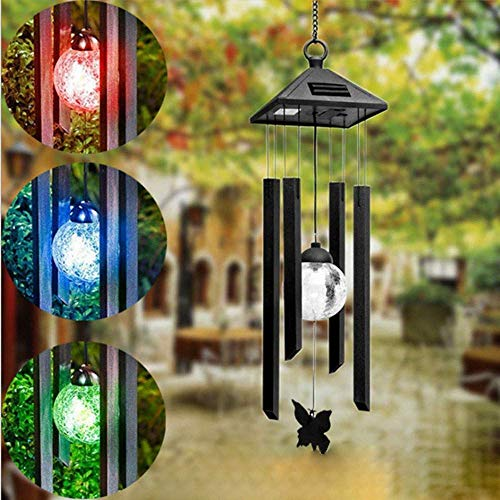 JALAL Solar Wind Chime Light Colour Changing LED Wind Chime LED Light Waterproof Lighting Lamp for Outdoor, Lawn, Garden, Patio, Yard, Living Room, Landscape