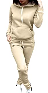 Loveinus Mens Two Pieces Zipper Hoodie Jackets and Pants Sweatsuit Outfit Set Men