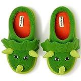 Dearfoams Unisex Child Clog Slipper, Green Dinosaur, 1 Big Kid US
