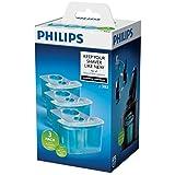 Philips Cartucho de limpieza JC303/50 - Accesorio para limpiar la maquinilla de afeitar, Azul, paquete de 3