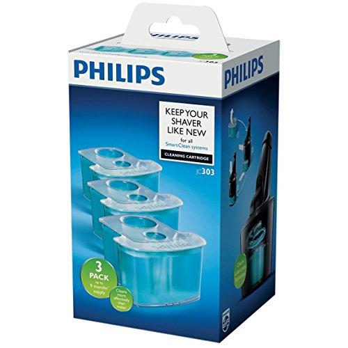 Philips Accessori Malegrooming Rasatura JC303/50 Cartucce di Ricambio per SmartClean, 3 Pezzi