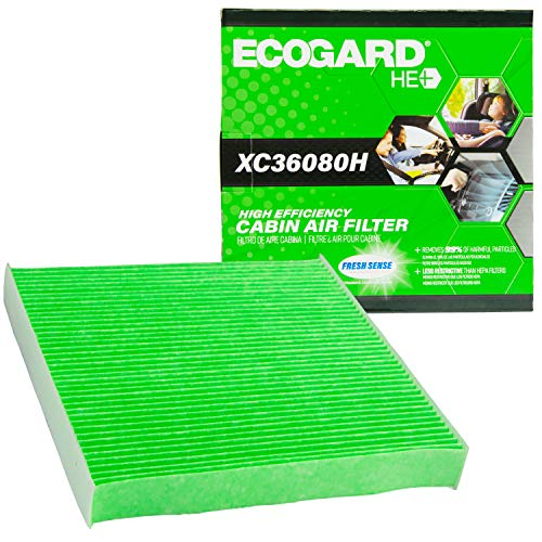 ECOGARD XC36080H Upgraded High Efficiency Cabin Air Filter with Baking Soda Honda Civic, V, Fit, HR, Odyssey, Insight, CR-Z, Clarity | Acura RDX