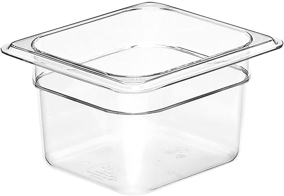 Cambro 64CW135 Camwear Food Pan Plastic 1 6 Size 4 D Clear Case Of 6