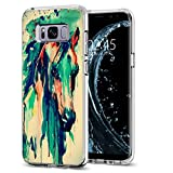 S8 Case for Men,Jolook 360 Body Protection Slim TPU Clear Design Case for Samsung Galaxy S8 - Printing Ink of Horse