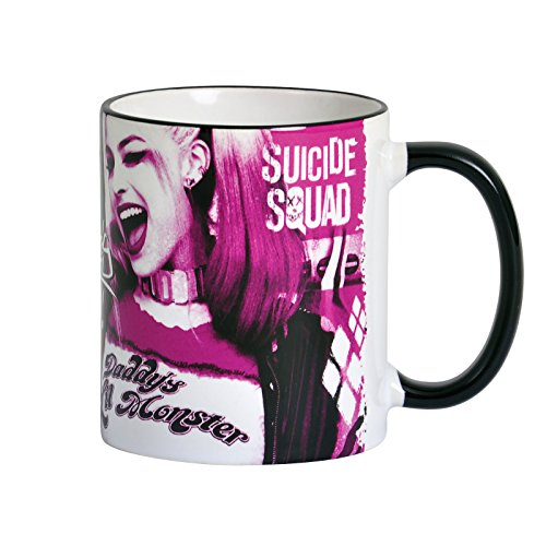 Elbenwald Suicide Squad Tasse Harley Quinn Girl Power Rundumdruck Keramik 320 ml pink